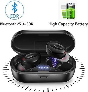 lifeicomall TWS Auriculares inalámbricos, Bluetooth 5.0 Mini auriculares intrauditivos IPX5, resistentes al agua, micrófon...