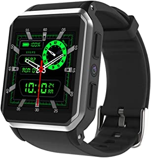 ZMDHLY KW06 Smart Watch Android 5.1 OS 512GB Ram 8GB ROM MTK6580 Quad-Core 3G GPS WiFi Watch Heart Rate Pedometer Watch,Silver