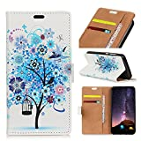Funda® 3D Relief Patterns Flip Wallet Case for BQ Aquaris
