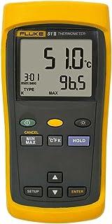 Fluke 50 Series II Digital Thermometer, 3 AA Battery, -418 to +2501 Degree F Range
