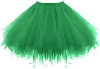 Kulywon Womens Pleated Gauze Short Skirt Adult Tutu Dancing Skirt