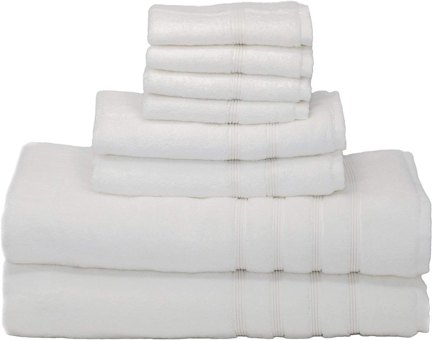 MOSOBAM 700 GSM Luxury Bamboo 8pc Raleigh Mall Extra Whit Large Set We OFFer at cheap prices Bathroom