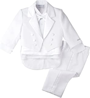 Spring Notion Baby Boys' White Classic Tuxedo with Tail