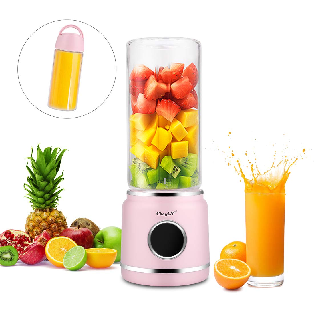 Batidora de zumo, exprimidor recargable USB, mezclador de frutas ...