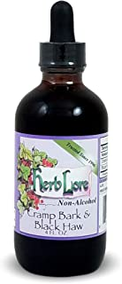 Cramp Bark and Black Haw Tincture - Menstrual Cramp Relief and Muscle Relaxer - Non-Alcohol - Herb Lore (4 Ounces)