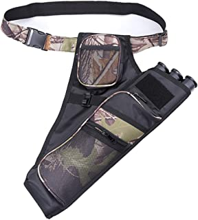 XTACER 3 Tube Hip Quiver Hunting Training Camo Archery Arrow Quiver Holder Bow Belt Waist..