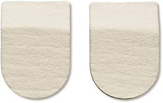 Hapad Heel Pads, 2 Inches Wide/1/2 Inch High - Wool Felt Heel Cushion Pads for Plantar Fasciitis and Other Heel Pain - 1 P...