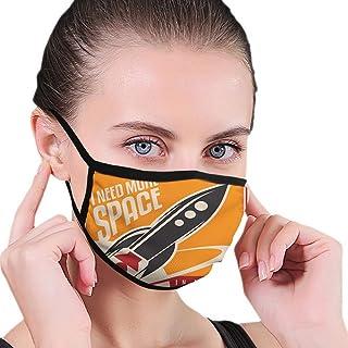 Mode tryckt vindtät mask, vintage, rymden och verkliga livet med raket tar flygplanet kosmos tidigare tid slogan tema, ans...