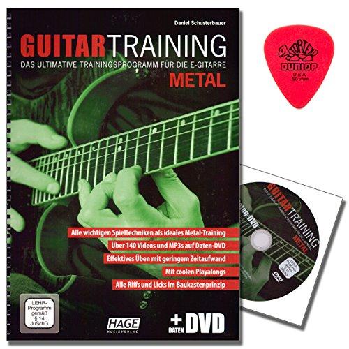 Guitar Training Metal - Das ultimative Trainingsprogramm für die E-Gitarre mit CD , Dunlop PLEK (Lehrprogramm/Lehrvideo gemäß §14 JuschG) - E-Gitarrenschule von Daniel Schusterbauer