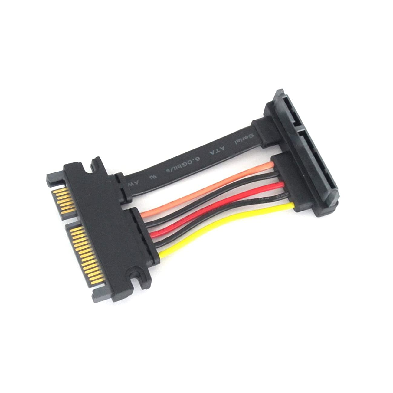 SATA III 22 Pin Right Angle Extension Cable 40 MM