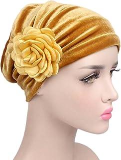 Ruffle Flower Chemo Turban Headband Scarf Beanie Hat Head Wrap Cap for Cancer