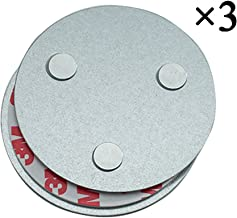 Meiprosafe Magnetic Smoke Detector Installation Tool,Quick and Easy Fastening Ceiling Mounted Kit for Smoke Alarm,No Need Drill 10 Seconds Install Smoke Sensors(3pcs)