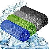 YQXCC Kühlhandtuch 3 Stück 120x30 cm Mikrofaser Handtuch für sofortige Kühlung Entlastung,...
