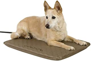 K&H Pet Products Lectro-Soft Heated Outdoor Pet Bed, Tan, 40W/Medium/19 x 24""