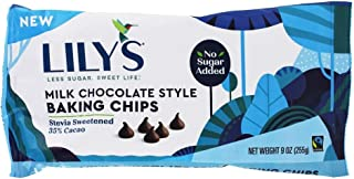Lily's - Stevia Sweetened Baking Chips 35% Cacao Milk Chocolate - 9 Oz