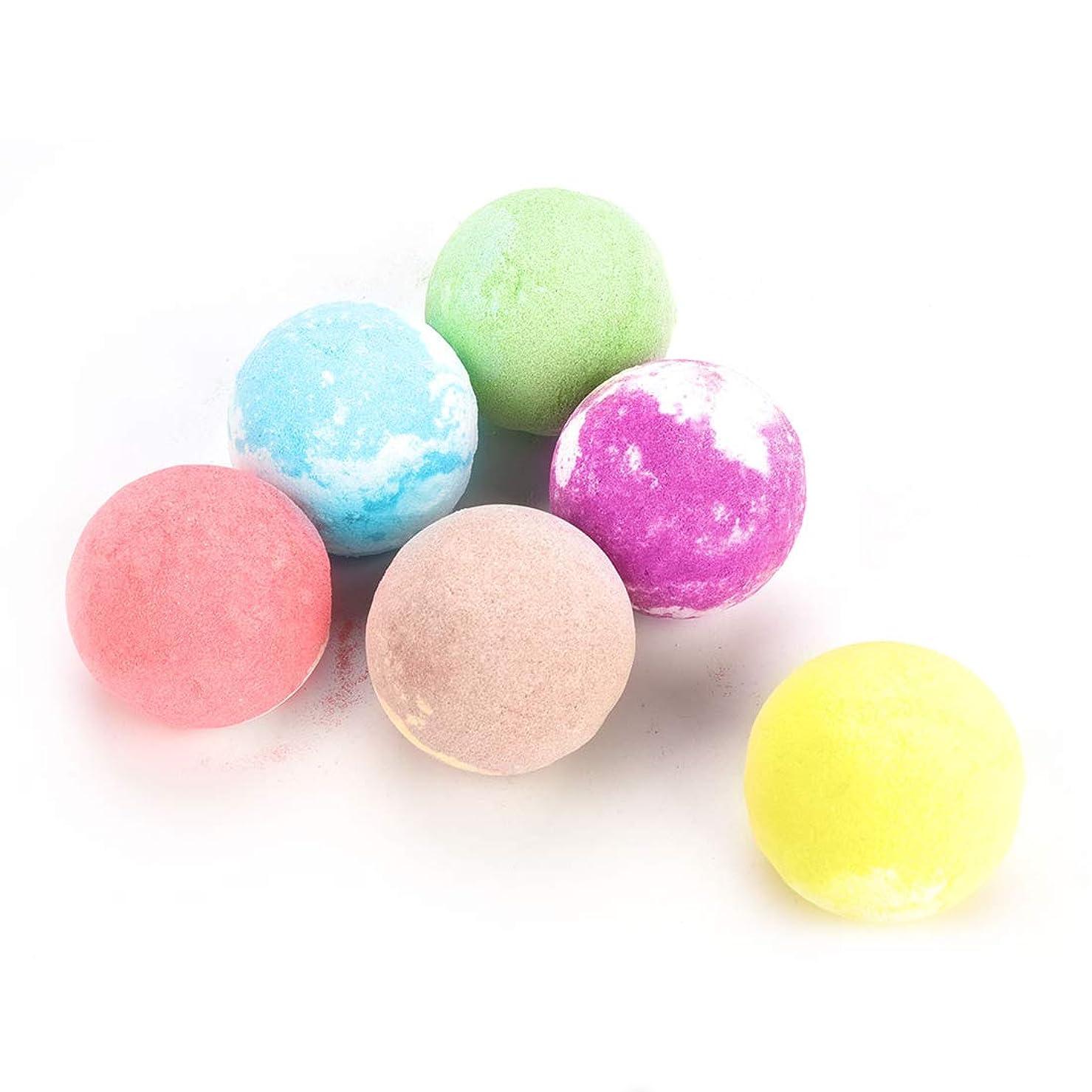 ファランクス過半数繁栄するバスボム 風呂爆弾 6個入り バス塩 入浴剤 バスボール セット 手作り ボディソープ バスケア プレゼント