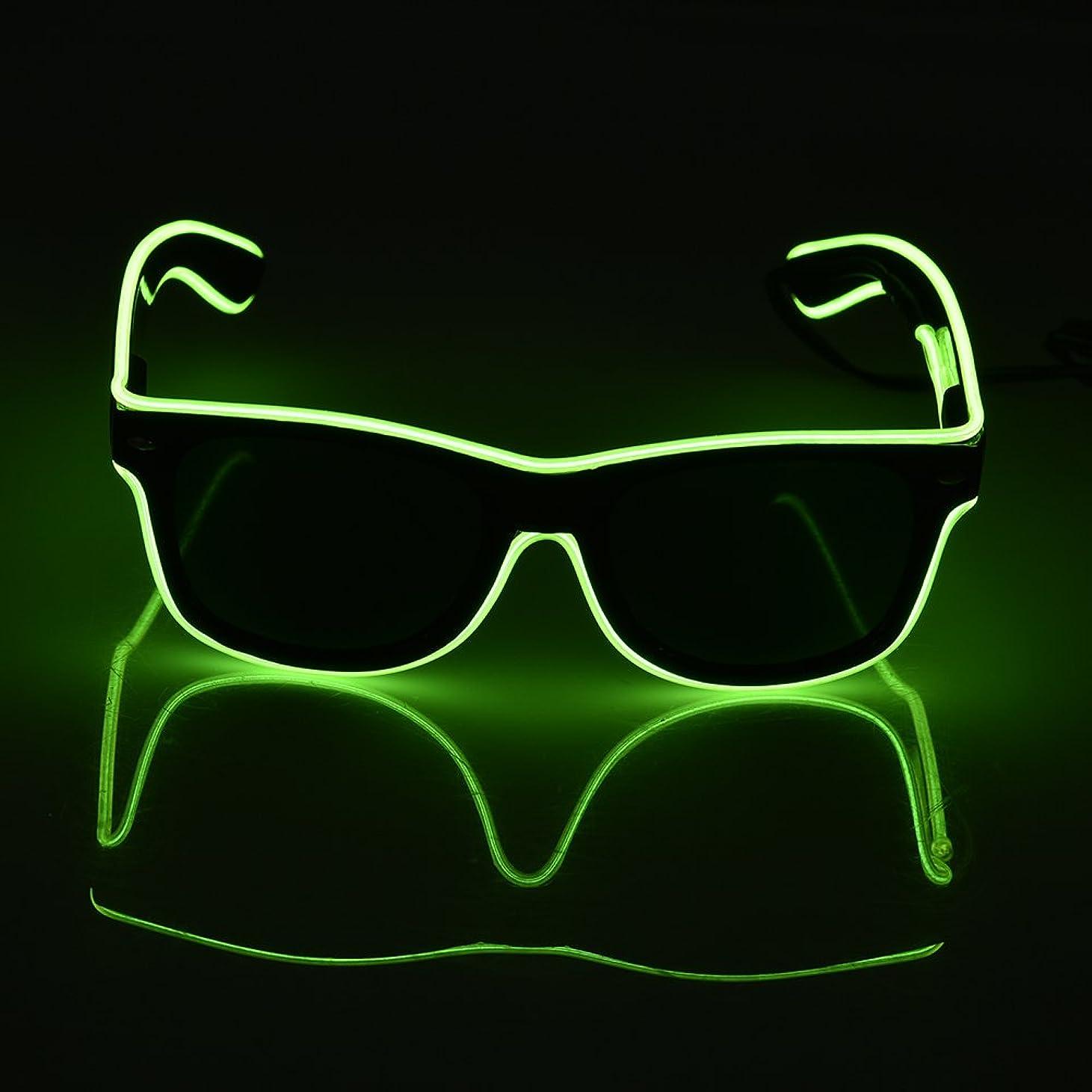 高速道路器官トリクルSUND led メガネLED 光るサングラス 光るメガネ コスプレ コスチューム 衣装 おもしろ パーティーグッズ 2色