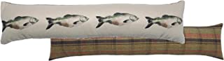 Salmon Cream Hunter Tartan Check Evans Lichfield Draught Excluder 90cm x 20cm