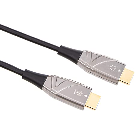 Amazon Basics High-Speed Fiber Optic HDMI Cable (18 Gpbs - 4k/60Hz), Supports Ethernet, 3D, 4K and ARC - 50-Foot