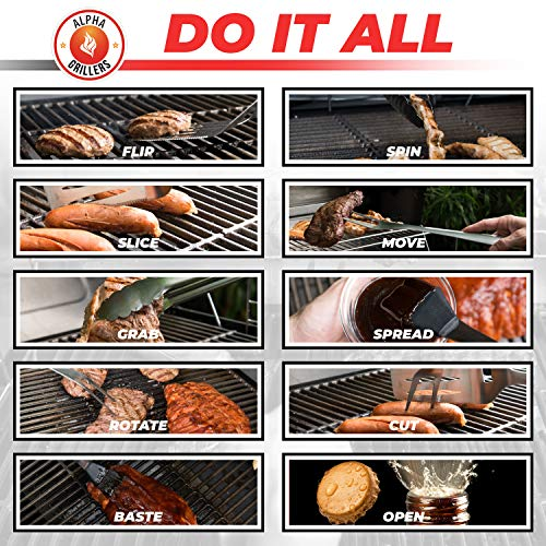 Alpha Grillers Heavy Duty BBQ Grilling Tools...