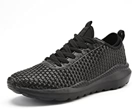 MYHYZZ-Athletic Shoes Men's Outdoor Running Sneaker Flat Heel Lace up Leisure Athletic Shoes up to Size 46 Men's Casual Shoes