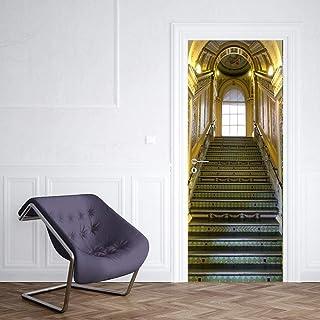 Sticker Porte 3D Porte Autocollant Porte Autocollant De Luxe Escalier De Mode Chambre Décoration Accessoires Sticker Mural...