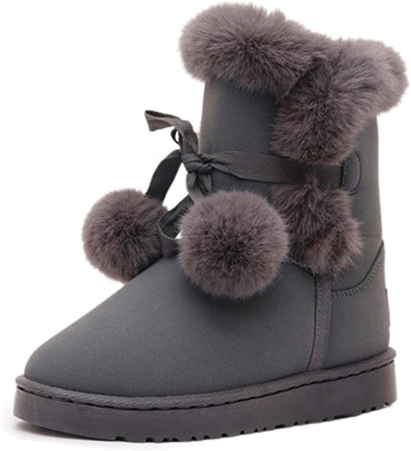 Woman Boots Round Toe Yarn Elastic Ankle Boots Thick Heel Flat Heels shoes Woman Female Socks Boots Winter