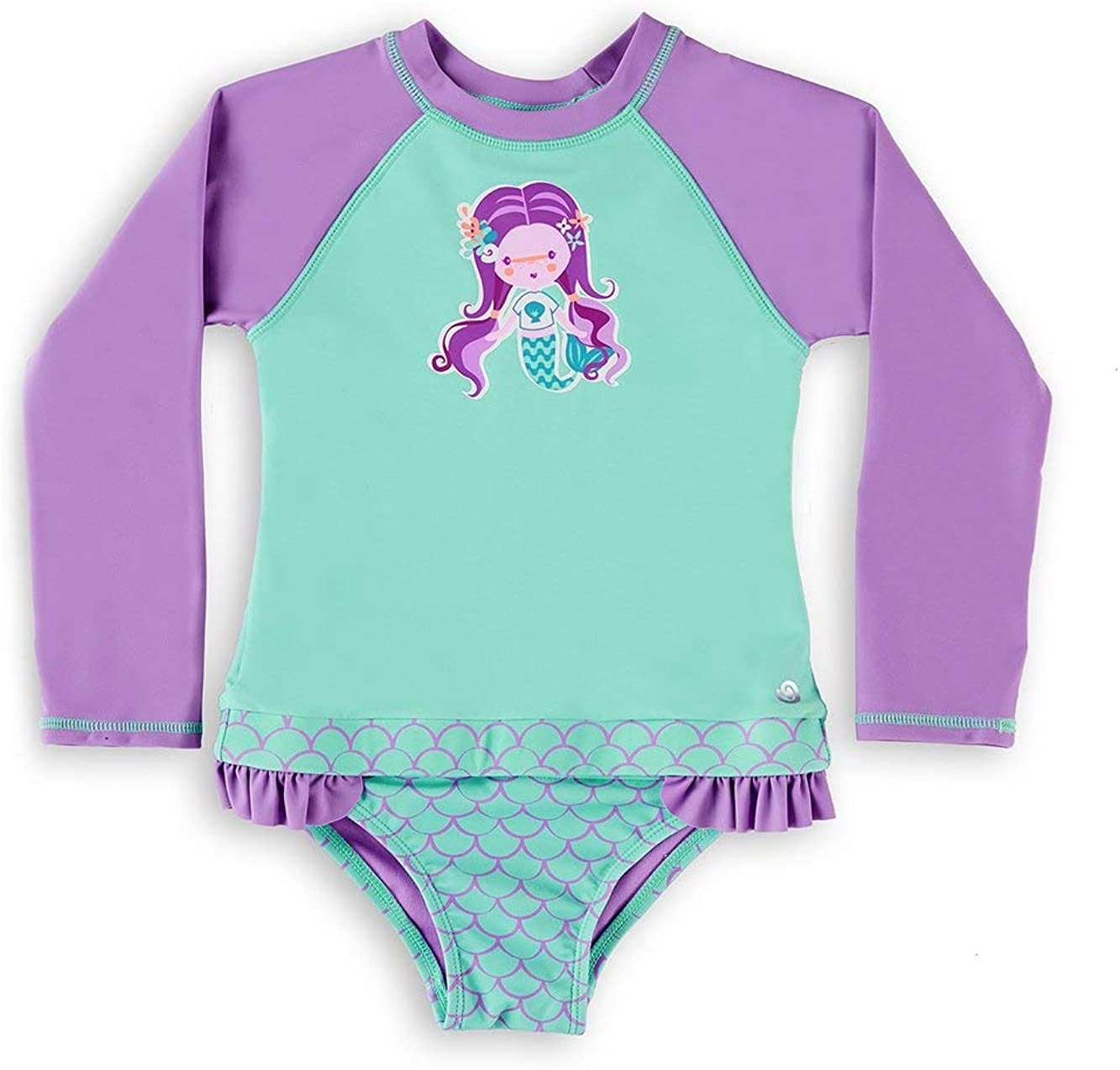 wowease Patented Baby One-Piece Bathing-Suit Mer Girl with Magnetease Technology