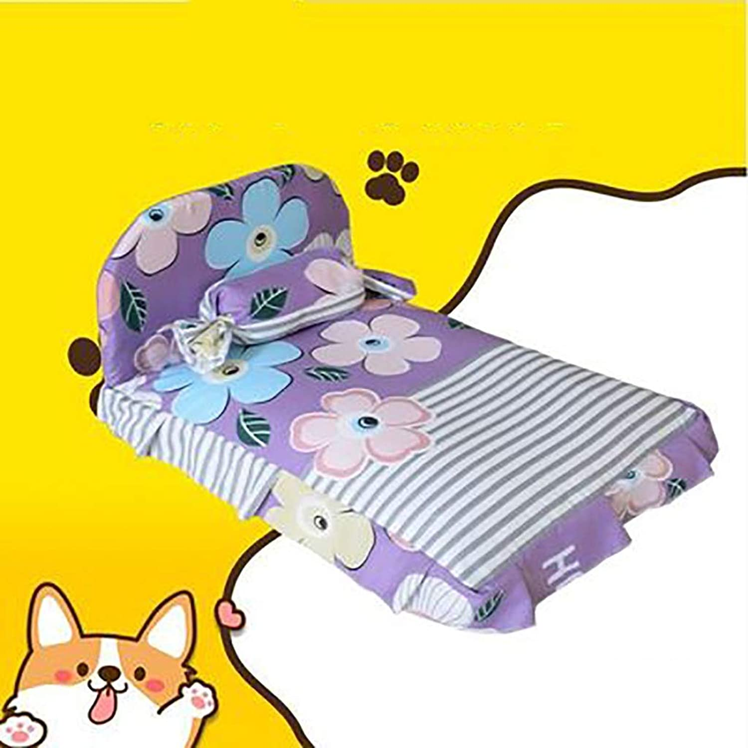 Pet House Cat Dog House Dog Bed Dog Supplies Sofa Cushion Kennel Mattress Removable and Washable Keep Warm Thicken (color   A7, Size   60  50 cm)