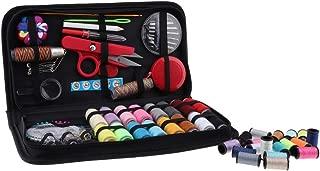 Baoblaze 138pcs Sewing Kit Case Needle Thread Pins Tape Scissor Button Measure Threader Thimble Home Handcraft