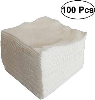 ULTNICE 100pcs esponja no tejida médica de la gasa de la esponja para los suministros de primeros auxilios del cuidado de la herida