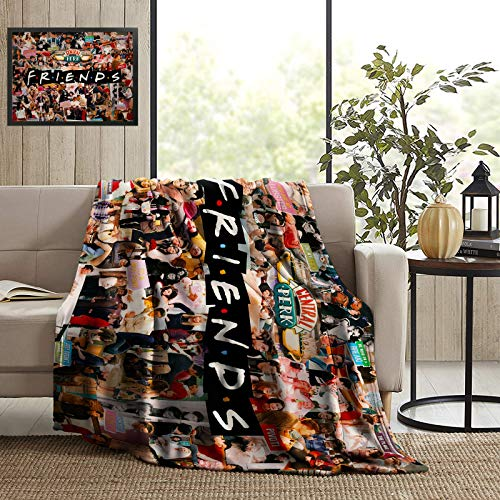 Friends Tv Show Blanket Ultra Soft Micro Flannel Fleece Throw Blankets Lightweight Microfiber Home Luxury Fuzzy Plush Warm Cozy Blanket for Couch Holiday Travel Camping 50x40 Inch All Season Gifts