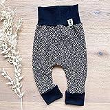 Baby Hose Mädchen - Leopard (Schwarz) Baby Mädchen Hose, Mitwachshose