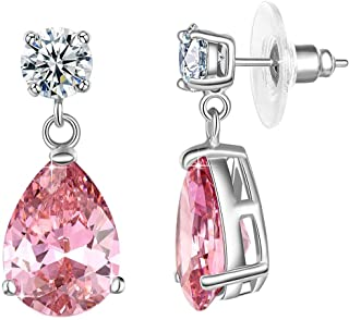 Yellow Chimes Pink Beauty A5 Grade Crystal Earrings for Women & Girls (YCSWER-435-PK-FBA)
