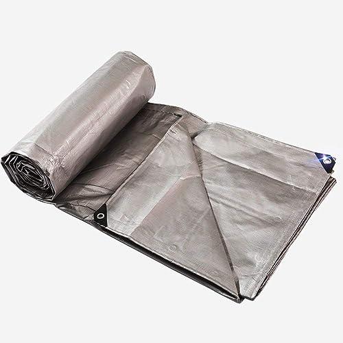 ATR Tente extérieure bache rembourrée Anti-Pluie Construction de Camion étanche à la Pluie Coupe-Vent en Plastique Tissu Anti-oxydation Pliable Anti-oxydation (Couleur  Argent, Taille  6X8M)