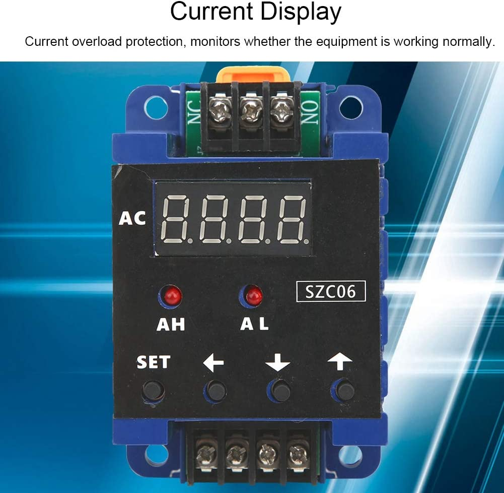 Durable AC110‑220V SZC06 Practical AC Ammeter Ammeter 200A for Industrial Supplies Low Voltage Equipment Power Distribution Relay