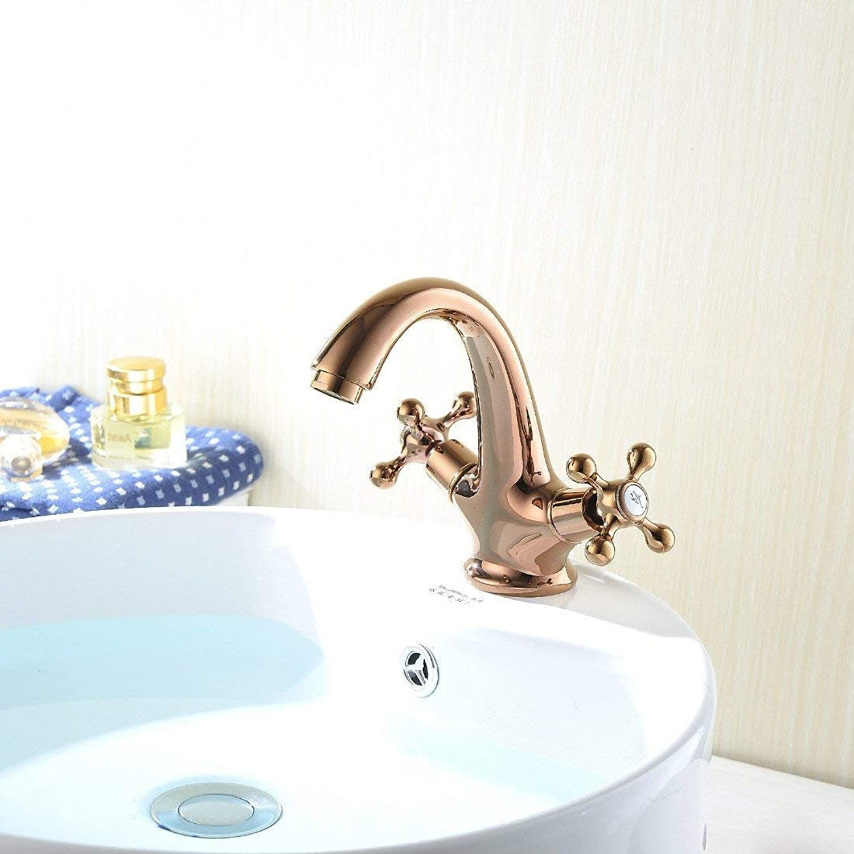 Oudan All copper chrome pink gold bathroom basin faucet creative modern faucet