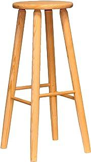 Taburete de madera natural 70 x 31 x 31 cm