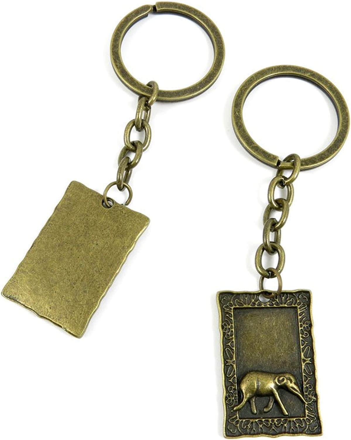 130 Pieces Fashion Jewelry Keyring Keychain Door Car Key Tag Ring Chain Supplier Supply Wholesale Bulk Lots T3LG2 Elephant Signs Tag