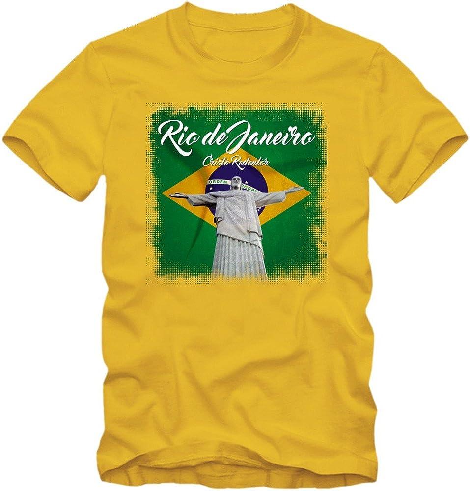 Shirt Happenz Rio Christo Redentor Camiseta   Brasil   Hombre ...