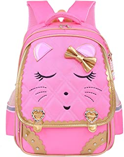 XHHWZB Primary School Bag Princess 8-12 Year Old Girl Cute Backpack, Made of Polyester + Nylon