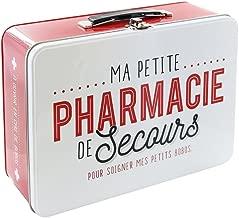 La Scatola ha bt6630Farmacia Scatola Metallo Rosso/Bianco 26,50x 9,40X 22,30cm