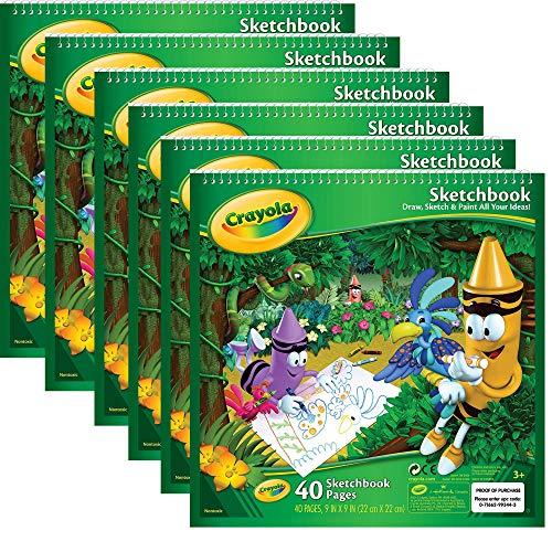 Crayola Sketchbook 9'X9', 40 Sheets, 6 Pack