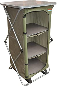 Bushtec Adventure Sierra Canvas Camp Cupboard, Camping Table or Outfitter Cupboard, Table.