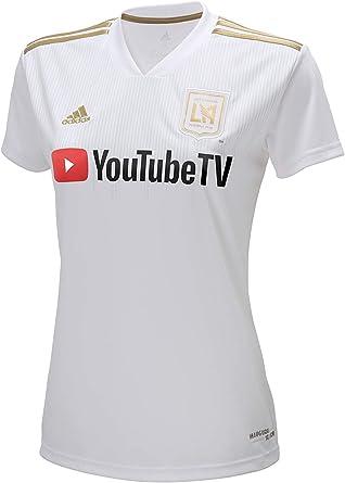 Amazon.com: adidas LAFC 2018 Away Womens Jersey- White/Gold XS ...
