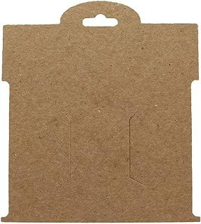 Kraft Brown Paper Hair-Bow Display Cards Large -50 Cards