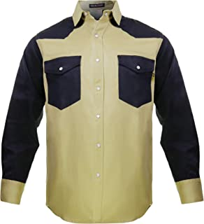 Just In Trend │Flame Resistant FR Shirt - 88/12 - Western Style - Two Tone
