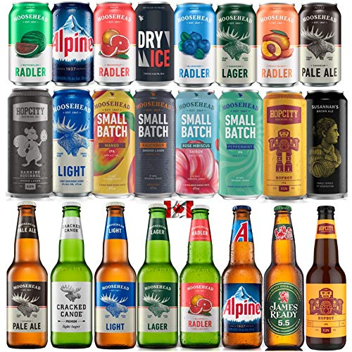 Moosehead Bierpaket BEST OF 24er Pack original kanadisches Bier - auch als perfektes Bier Geschenk für Männer (inkl. 6,00 € Pfand)