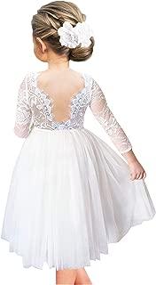 a line knee length flower girl dress