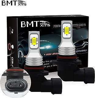 BMTxms 9006 HB4 LED Fog Light Bulbs Only for Daytime Running Light DRL Fog Lights, White, 2Pcs
